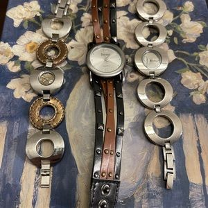 Lot of 3 old ladies fashion watches